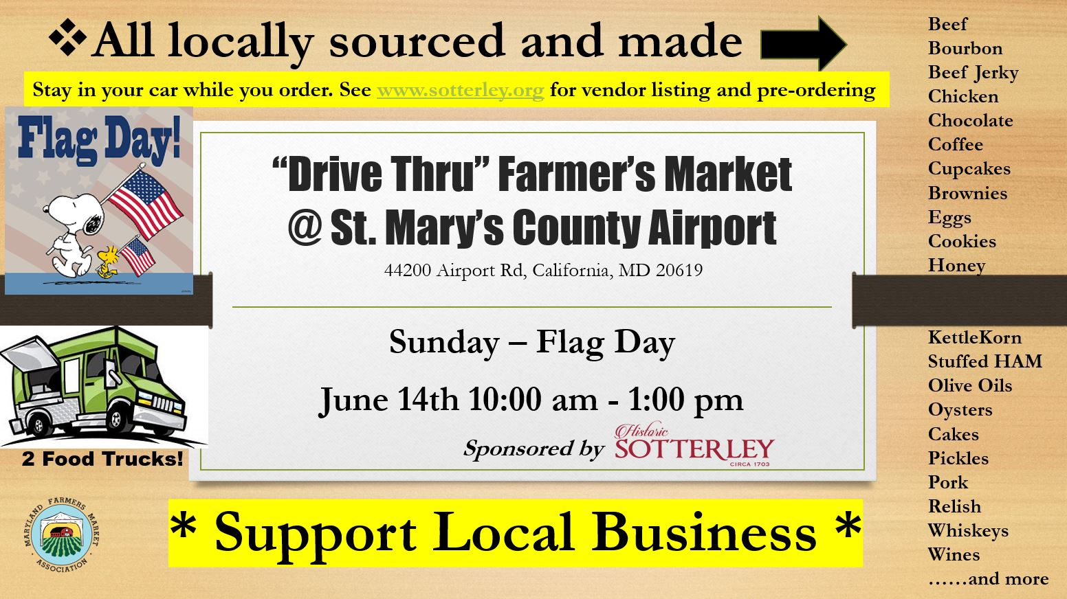 Flag Day Drive Through Farmers Market
